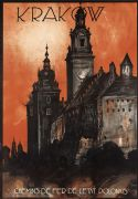 Vintage Krakow Poland Polish Travel Poster